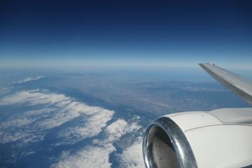 vue aérienne nuageuse
