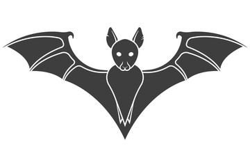 Bat icon. Vector on a white background