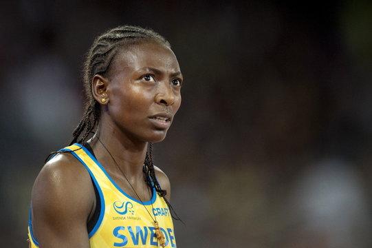 File photo shows Sweden's 1,500 metres indoor world champion Abeba Aregawi