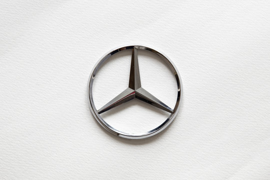 Mercedes-Benz sign. German global automobile company and a division of Daimler AG founded at 1926.