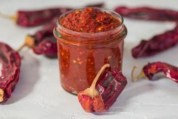 Fototapeta Traditional homemade harissa sauce obraz