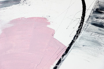 abstract pink and gray acrylic painting on canvas