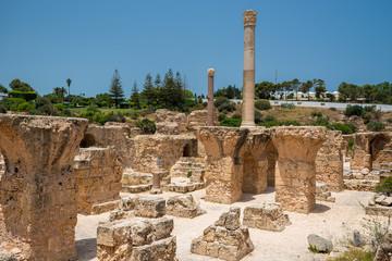 The Baths of Antoninus or Baths of Carthage in Carthage, Tunisia.