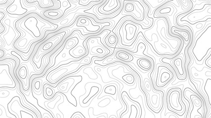 Topography map background. Vector geographic contour map. Wall mural