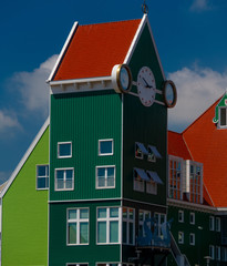 Traditional  Architecture in New Design at the inner City of Zaanstad the Netherlands