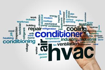 Fototapeta HVAC word cloud obraz