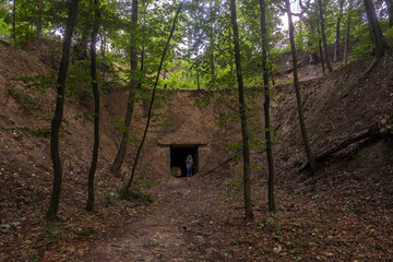Tunnel of the Lysohorsky Fortress. Kyiv, Ukraine