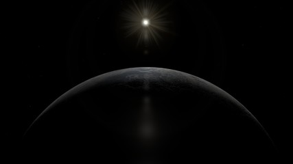 Picture of Ceres the Dwarf Planet and Sun