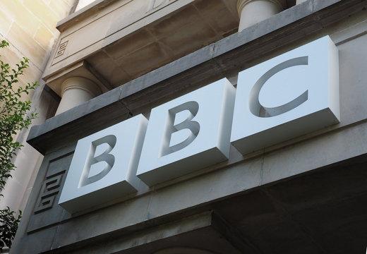 BRISTOL, UK - CIRCA SEPTEMBER 2016: BBC Broadcasting House sign