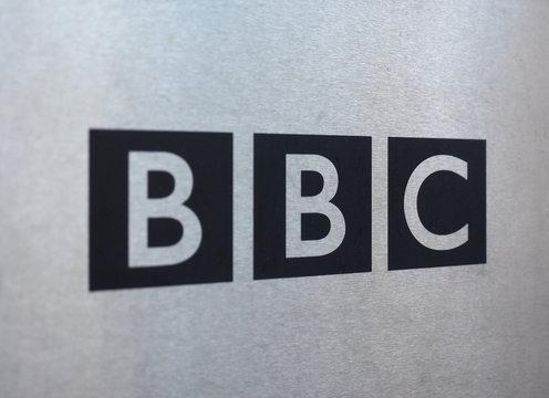 LONDON, UK - CIRCA JUNE 2017: BBC sign