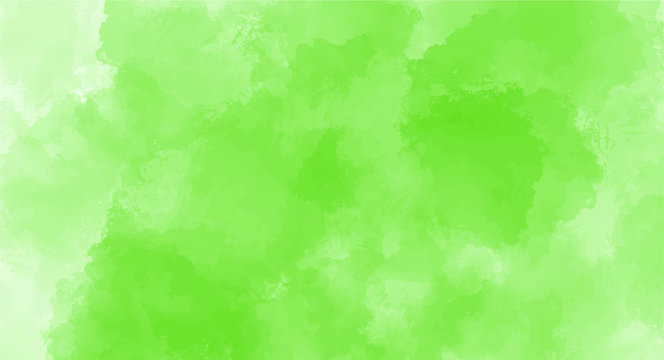 Green watercolor background for your design, watercolor background concept, vector.