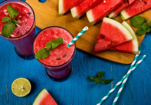 Fresh Watermelon Juice In A Glass