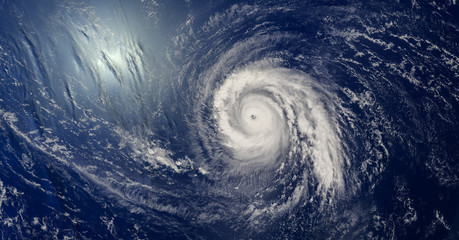 Tropical cyclone over the ocean - 3D illustration