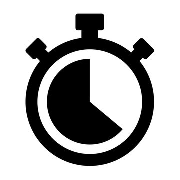 Stopwatch timer flat vector icon for apps and websites