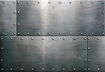 Grunge metal background, steel plate texture
