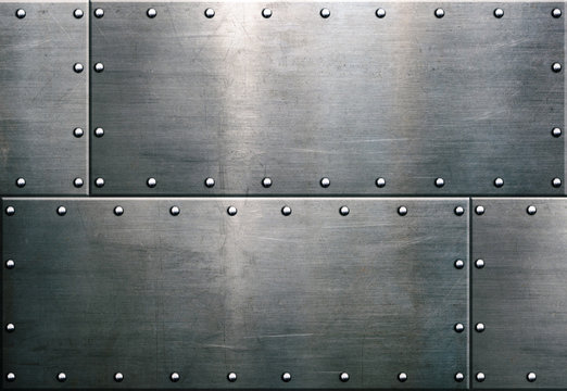 Grunge metal background, steel plate texture