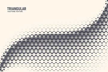 Triangle Shapes Vector Abstract Geometric Technology Oscillation Wave Isolated on Light Background. Halftone Triangular Retro Simple Pattern. Minimal 80s Style Dynamic Tech Wallpaper