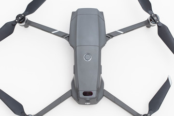 LONDON, UK - OCTOBER 18th 2018: DJI Mavic Pro 2 drone aerial camera on a white background.