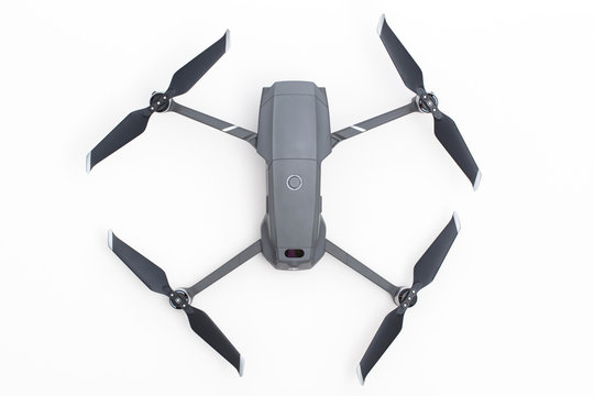 LONDON, UK - OCTOBER 18th 2018: DJI Mavic Pro 2 drone aerial camera on a white background.