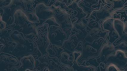 Topographic Contour Map Psychedelic Brown Abstract Background. Ultra High Quality Wallpaper