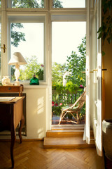Beautiful interior design with antique furniture
