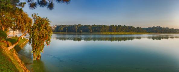 Wall Mural -  Xuan Huong Lake, Dalat, Vietnam. Panorama