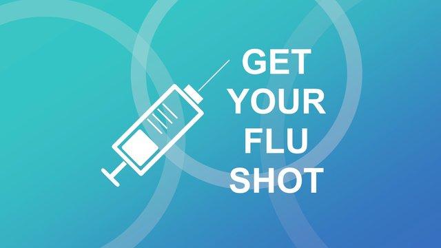 Flu awareness campaign banner. Design illustration