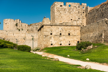 Ancient City Walls and Fortifications in Rhodes, Greece