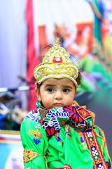 Fotobehang Carnaval Indian Little child wearing Lord Krishna costume and celebration Janmashtami festival