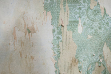 old vintage wallpaper. grunge background