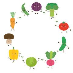 Cadre Personnages de légumes