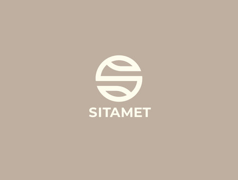 Modern creative  letter S logotype. Abstract business logo. Creative dynamic logotype. Connection symbol.