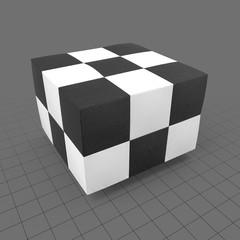 Checked pattern pouf