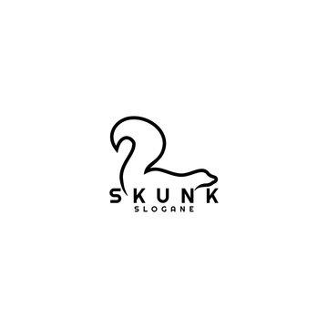 skunk logo concept black vector