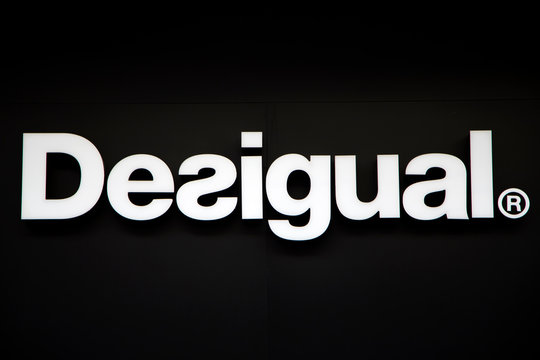 Detail of the Desigual shop in Pisa, Italy. Desigual is a casual clothing brand founded at 1984 in Barcelona, Spain