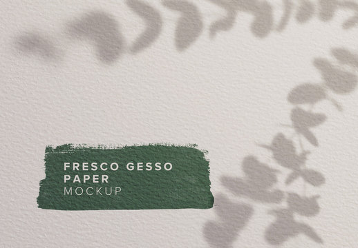 Paper Fresco with Gesso Mockup