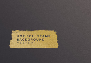 Paper with Hot Foil Mockup