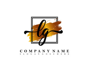 LG Initial handwriting logo concept