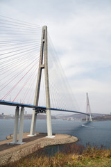 Vladivostok, Russia. Russian Bridge