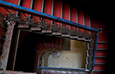 Beautiful old antique stairs. Wroclaw,Poland.