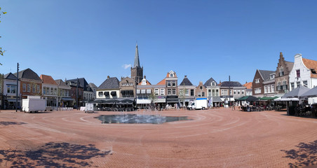 Panorama from the old town square of Steenwijk