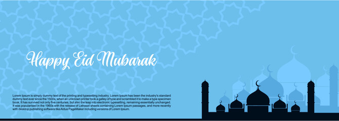 Eid mubarak creative design islamic celebration for print, card, poster, banner etc.