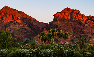 Aluminium Prints Arizona Sunset at Camelback Mountain
