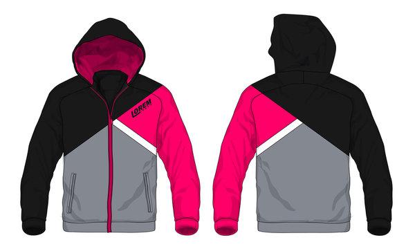 Vector illustration of sport hoodie jacket stock illustration