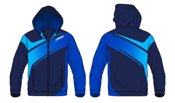 Vector illustration of sport hoodie jacket stock illustration