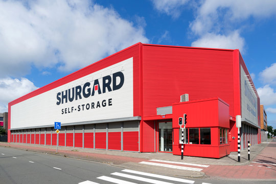 RIJSWIJK, THE NETHERLANDS - JULY 1, 2019: Shurgard self-storage center. Shurgard is the largest self-storage provider in Europe with over 200 self-storage centers in 7 countries.