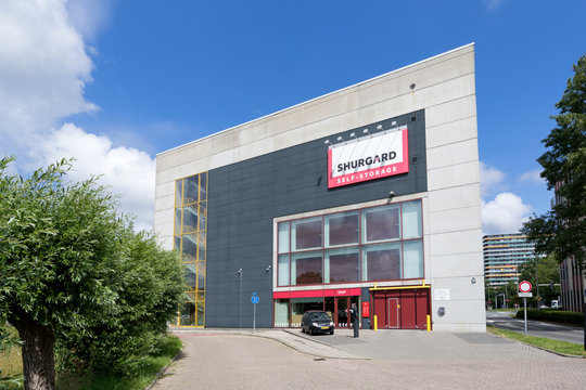 DELFT, THE NETHERLANDS - JULY 1, 2019: Shurgard self-storage center. Shurgard is the largest self-storage provider in Europe with over 200 self-storage centers in 7 countries.