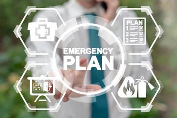 Emergency Preparedness Checklist Plan Business Evacuation Training concept.