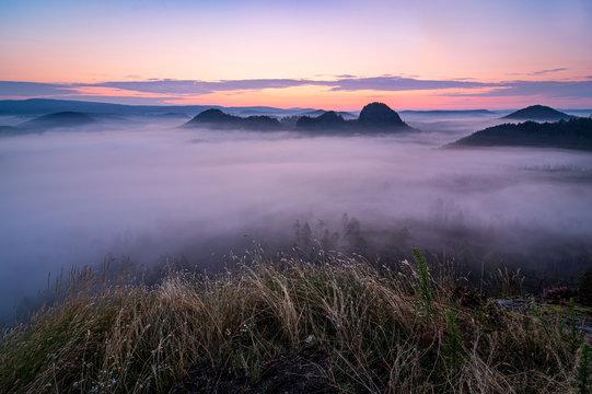 Dawn in Saxon Switzerland