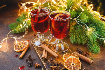 Hmulled wine with spices